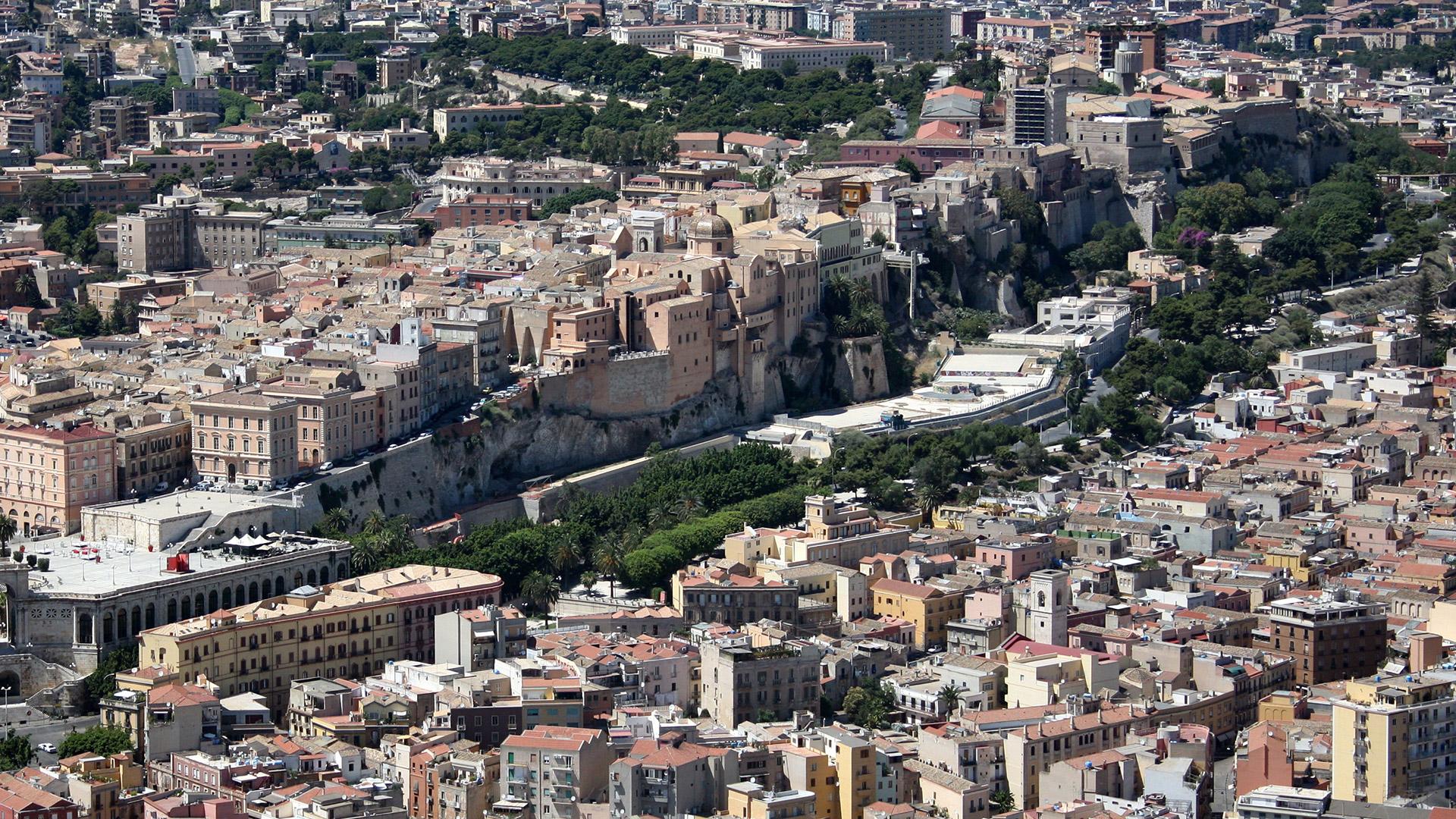 Cagliari dal cielo